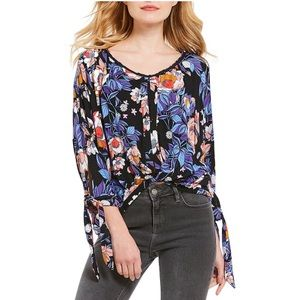 Free People Floral Oversized Flowy Boho Tshirt Top